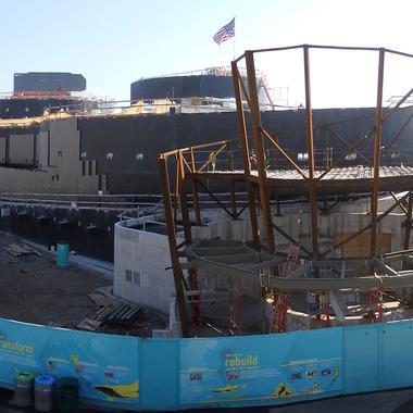 Ocean wonders sharks new york aquarium for Construction aquarium